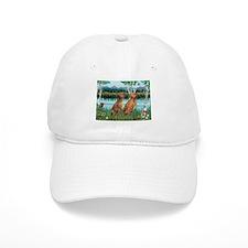 Birches / Vizsla pair Baseball Cap