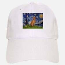 Starry Night & Vizsla Baseball Baseball Cap