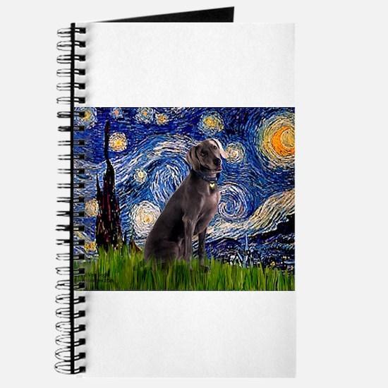 Starry Night Weimaraner Journal