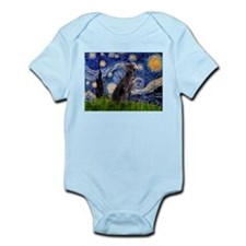 Starry Night Weimaraner Infant Bodysuit