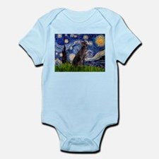 Starry Night Weimaraner Infant Bodysuit