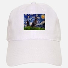 Starry Night Weimaraner Baseball Baseball Cap