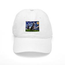 Starry Night Weimaraner Baseball Cap