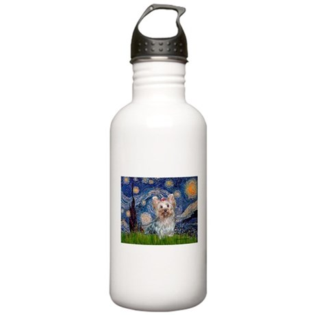 Starry Night Yorkie (T) Stainless Water Bottle 1.0