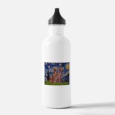 Starry Night Weimaraners Water Bottle