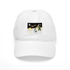 Night Flight/Corgi (BM) Baseball Cap