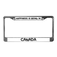 Happiness is Canada License Plate Frame
