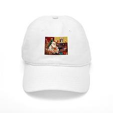Santa's 2 Corgis (P2) Baseball Cap