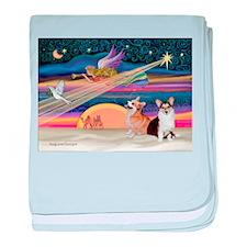 XmasStar/2 Corgis (P1) baby blanket