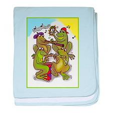 The Frog Quartet baby blanket