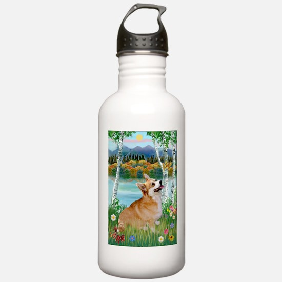 Birches / Corgi (P) Water Bottle