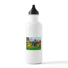 Golfing Frogs Water Bottle