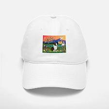 Fantasy Land / Corgi (c) Baseball Baseball Cap