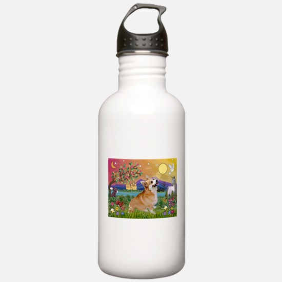 Fantasyland & Welsh Corg Water Bottle