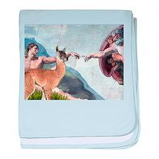 Creation of the Llama baby blanket