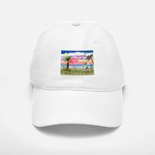 Flamingo & Corgi Baseball Baseball Cap