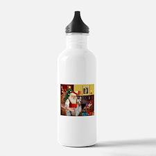 Santa's Baby Llama Water Bottle