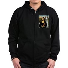 Mona Lisa's Llama Zip Hoodie