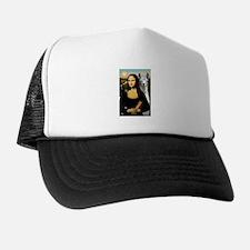 Mona Lisa's Llama Trucker Hat
