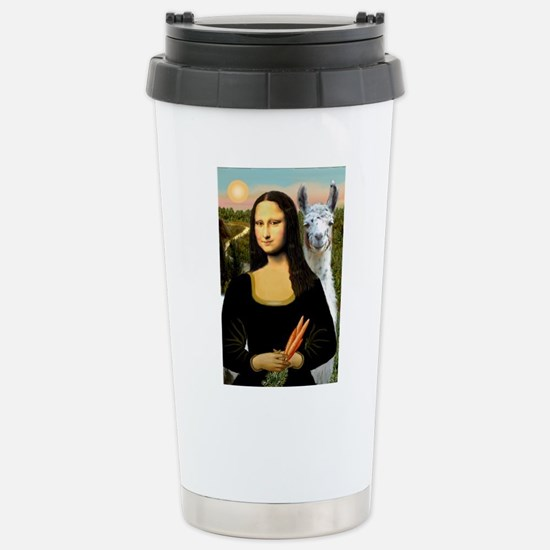 Mona Lisa's Llama Stainless Steel Travel Mug