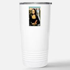 Mona Lisa's Llama Travel Mug