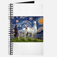 Starry Night Llama Duo Journal