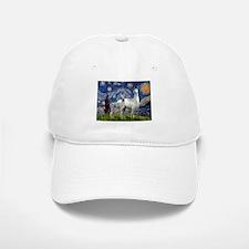 Starry Night Llama Duo Baseball Baseball Cap