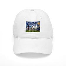 Starry Night Llama Duo Baseball Cap