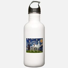 Starry Night Llama Duo Water Bottle