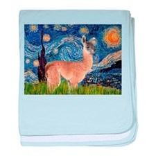 Starry Night Llama baby blanket