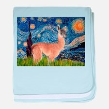 Starry Night Llama baby blanket