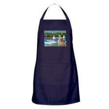 Monet's Sailboats Apron (dark)