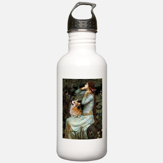Ophelia & her Corgi (Pem) Water Bottle