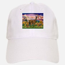 Autumn Angel & Llama Baseball Baseball Cap