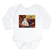 Santa/2 West Highland Long Sleeve Infant Bodysuit