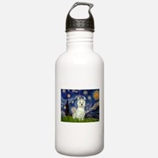 Starry Night Westie Water Bottle