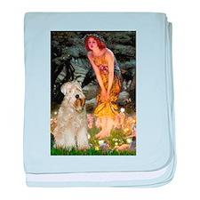 Fairies and Wheaten (#7) baby blanket