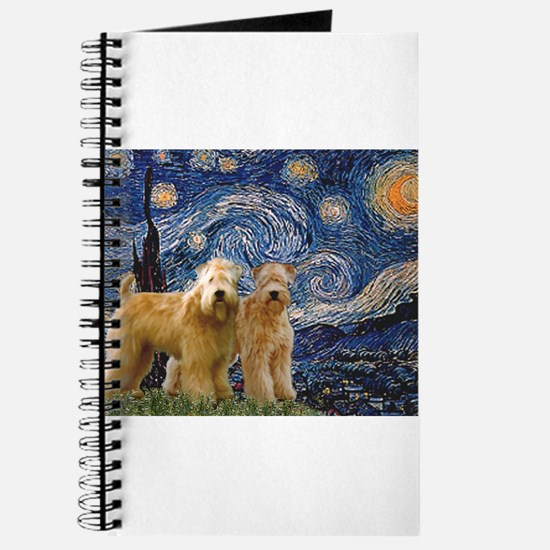 Starry Night & 2 Wheatens Journal