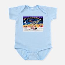 XmasSunrise/3 Whippets Infant Bodysuit
