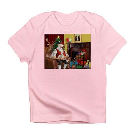 Santa's Whippet (#2) Infant T-Shirt