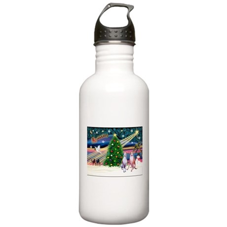 Xmas Magic & Whippet Stainless Water Bottle 1.0L