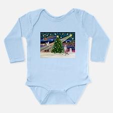 XmasMagic/ Whippet (#7) Long Sleeve Infant Bodysui