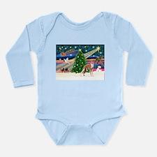 XmasMagic / Whippet (#13) Long Sleeve Infant Bodys