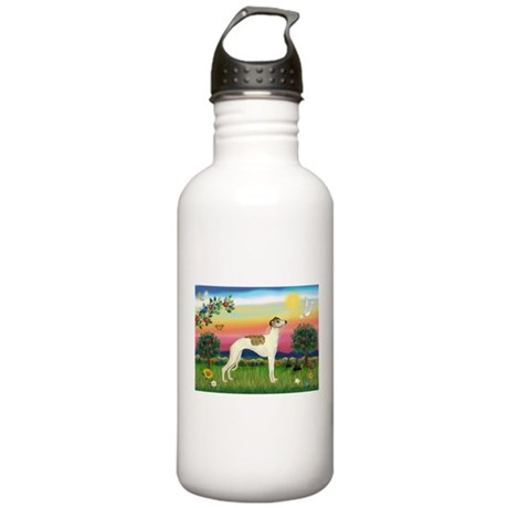 Bright Country & Whippet Stainless Water Bottle 1.