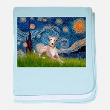 Starry Night & Whippet baby blanket