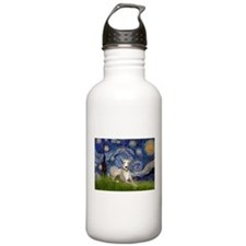 Starry Night & Whippet Water Bottle