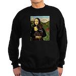 Mona's Therapy Dog (Lab-C) Sweatshirt (dark)