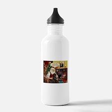 Santa's Chocolate Lab (TH) Water Bottle