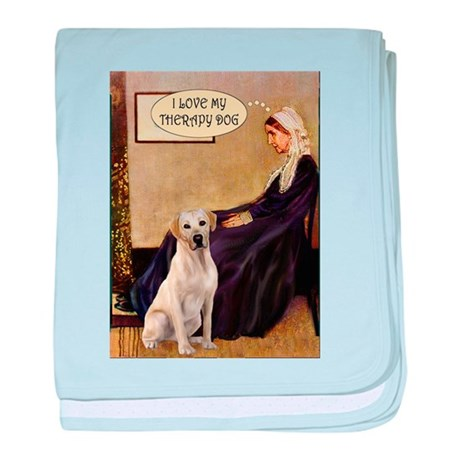Mom's Therapy Dog (Lab-Y) baby blanket