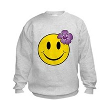 Cute A smiley face girl Sweatshirt